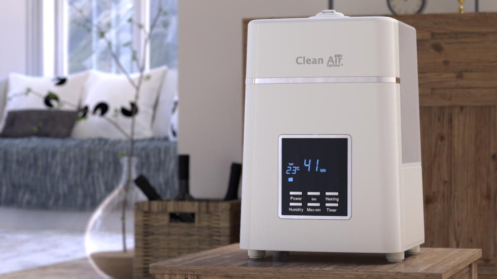 Cool/Warm mist Humidifier Clean Air Optima CA-604W with Ionizer, Suitable: 55m² / 140m³ / 590ft²