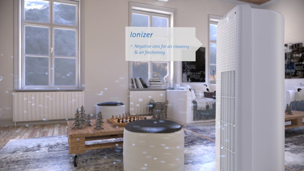 Tower-Fan CA-405, Air purification with ionizer.